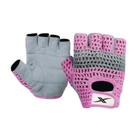 Перчатки для фитнеса X-power 9150 серо-розовые