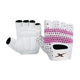 Перчатки для фитнеса X-power 9153 бело-розовые