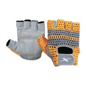 Перчатки для фитнеса X-power 9157 серо-желтые