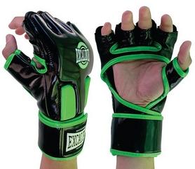 Перчатки для MMA Excalibur 667 черно-зеленые
