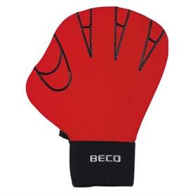 Перчатки для аквафитнеса Beco Full 9636 красные, размер - М