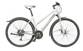 """Велосипед городской женский Cross Travel Lady 28"""" 2015 белый, рама - 17"""""""