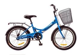 """Велосипед складной с корзиной Formula Smart 14G 20"""" 2017 синий, рама - 13"""""""