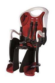 Кресло велосипедное детское Bellelli Tiger Сlamp черно-белое красная подкладка