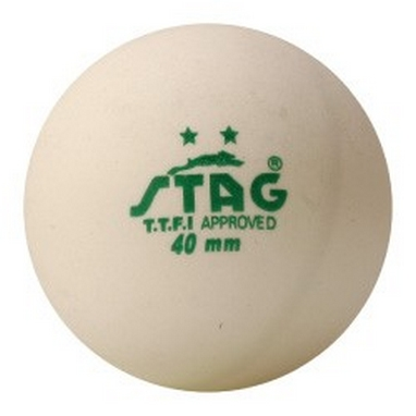 Набор мячей для настольного тенниса Stag Two Star White Ball (3 шт)