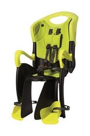 Кресло велосипедное детское Bellelli Tiger Сlamp черно-салатовый