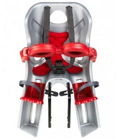 Кресло велосипедное детское Bellelli Freccia Standart B-fix серебристо-красное