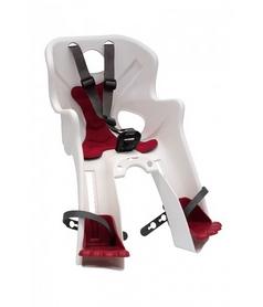 Кресло велосипедное детское Bellelli Rabbit B-fix бело-красное