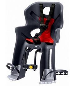 Кресло велосипедное детское Bellelli Rabbit B-fix серо-красное