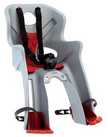 Кресло велосипедное детское Bellelli Rabbit Handlefix серебристо-красное