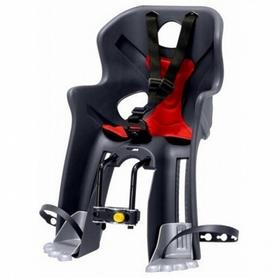 Кресло велосипедное детское Bellelli Rabbit Handlefix серо-красное