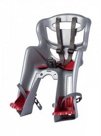 Кресло велосипедное детское Bellelli Tatoo Handefix серебристо-красное