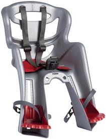 Кресло велосипедное детское Bellelli Tatoo Handefix серо-красное