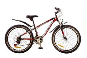 """Велосипед горный подростковый Discovery Flint AM 14G DD 2017 - 24"""", рама - 13"""", красный (OPS-DIS-24-050)"""