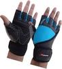 Перчатки для фитнеса X-power 9008 черно-голубые - фото 1