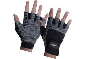 Перчатки для фитнеса X-power 9057 черно-серые