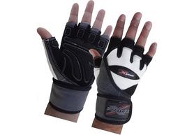Перчатки для фитнеса X-power 9003 черно-белые