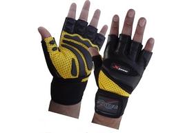 Перчатки для фитнеса X-power 9005 черно-желтые