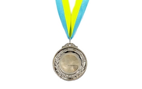 Медаль спортивная ZLT Hit C-3218-S серебро