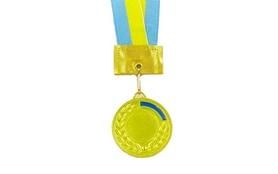 Медаль спортивная ZLT Ukraine C-3241-1 золотая
