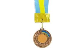 Медаль спортивная ZLT Ukraine C-3241-3 бронза