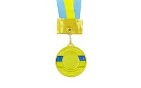 Медаль спортивная ZLT Ukraine C-3242-1 золотая