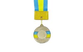 Медаль спортивная ZLT Ukraine C-3242-2 серебро