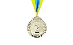 Медаль спортивная 2 место (серебро) ZLT Start C-4333-2 50 мм