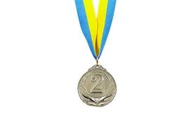 Медаль спортивная 2 место (серебро) ZLT Triumf C-4871-2 50 мм