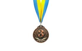 Медаль спортивная 3 место (бронза) ZLT Triumf C-4871-3 50 мм