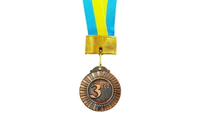 Медаль спортивная ZLT Flash C-2516 бронза