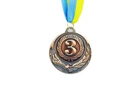 Медаль спортивная ZLT Zing C-4329-3 бронза