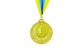 Медаль спортивная ZLT Zing C-4334-1 золото