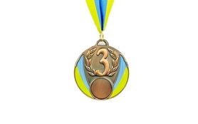 Медаль спортивная ZLT Ukraine C-4339-3 бронза