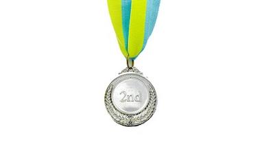 Медаль спортивная ZLT Fame C-3042-2 серебро