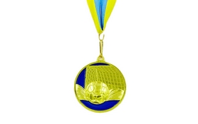Фото 1 к товару Медаль спортивная ZLT Футбол C-3975-1 золото