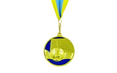 Медаль спортивная ZLT Футбол C-3975-1 золото