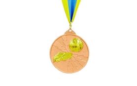 Медаль спортивная ZLT Футбол C-4847-3 бронза