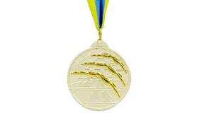 Медаль спортивная ZLT Плавание C-4848-2 серебро