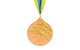 Медаль спортивная ZLT Плавание C-4848-3 бронза