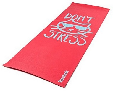 Коврик для йоги (йога-мат) Reebok Don't Stress RAYG-11030DS красный