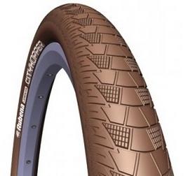 """Покрышка велосипедная Mitas (Rubena) 26"""" x 2.0"""" (52x559) Cityhopper V99 Classic коричневая"""