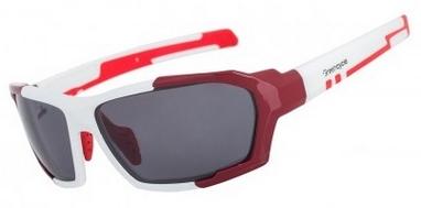 Очки спортивные Green Cycle GC-GL8180  бело-красные