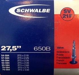 "Камера велосипедная Schwalbe SV21F 40 мм Extra Light EK 26"" (54/75-584)"