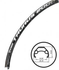 """Обод велосипедный Weinmann Taurus 2000 Disc 26"""" 32Н черный"""