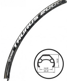 """Обод велосипедный Weinmann Taurus 2000 Disc 29"""" 32H черный"""