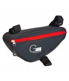 Велосумка Green Cycle F-Angle 5302 в раму черно-красная