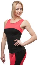 Майка для фитнеса женская Active Age 5.08 p.bc черная с коралловым