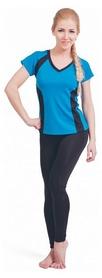 Футболка для фитнеса женская Active Age 5.24 p.blb голубая с черным