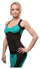 Майка для фитнеса женская Active Age 5.26 p.bm(cup) черная с мятным